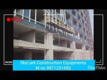 suspended platform for glass installation skylark construction equipments
