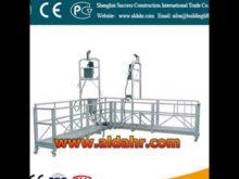 suspended platform hoist/rope suspended platform/swing stage CE proved