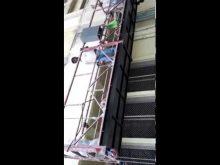 Suspended platform in operation
