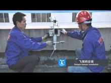 suspended platform parapet clamper installation, andamios colgantes