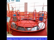 Suspended Platform With Wall Roller