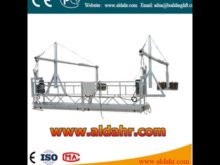 suspended platform zlp 630 used for plastering/heat preservation/doping/wall installation cleaning