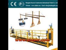 suspended scaffolding/rope suspended platform/swing stage CE proved
