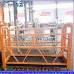Suspended Working Platform With Wall Rollers