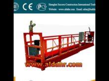 suspended working platform