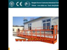 Swinging Steel Wire Rope Suspended Platform/Adjustable Height Construction Work Platform