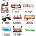 U Shape Suspended Platform,L Shape Electric Scaffold,Round Circle Rope Suspended  Platform