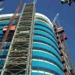 UBSL Construction Hoists at St Botolphs Tower London,Wide Shot