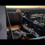 View from atop a liebherr 550ech20 tower crane