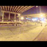 walking a Walsh link belt 248 under a highway timelapse