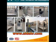 wall climber CE proved/rope suspended platform