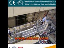 window cleaning suspended platform aerial working platform