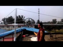 Wire winder for suspended platform gondola