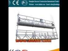 zlp 630 hoist suspended platform/eclectric swing stage/construction lifting gondola