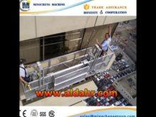 ZLP steel/aluminium suspended platform CONSTRUCTION MACHINERY