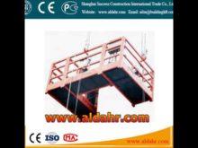 ZLP suspended platform for glass curtain walls installation