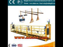 ZLP500 Aluminum electric suspended platform glass painting machine